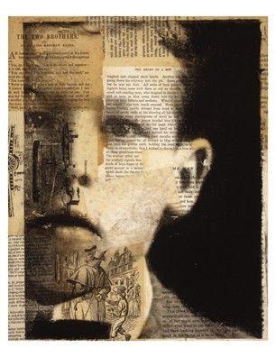 Michelle Caplan - mixed media, text layering