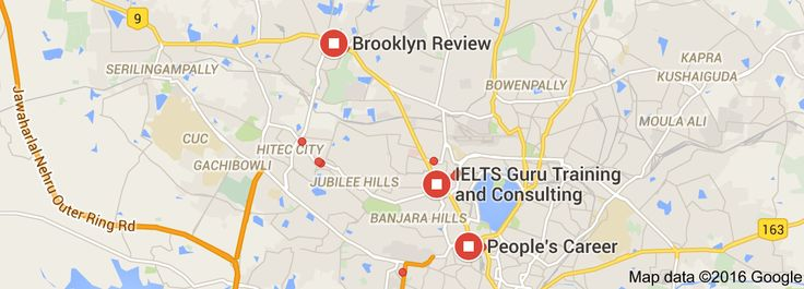 Map of best gre coaching classes in hyderabad