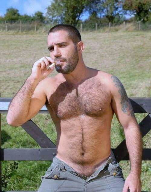 Images - Hot hairy studs smoking cigarettes