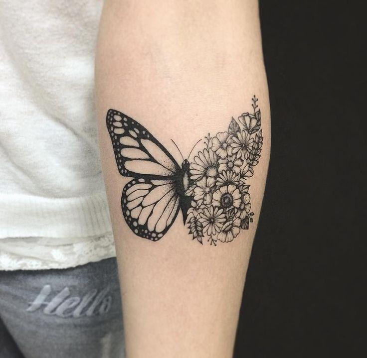 """横山 Kristie Yuka trên Instagram: """"Braboletinha da linda da Camila Obrigada pela confiança na sua primeira tattoo ___________________________ Espaço Alvorada Rua Gama…"""""""