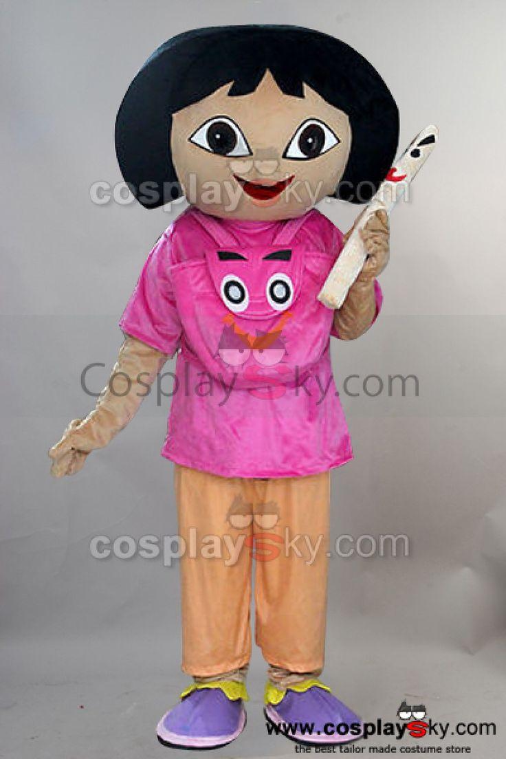 Explorer Girl Dora Mascot Costume Adult Size 2