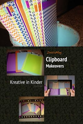 Clipboard Makeovers, Organizing Classroom