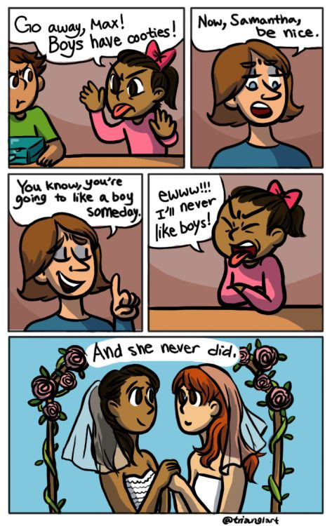 Oh my gosh, adorable! This one's for my lesbian friends. :D