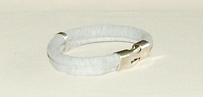 Cotton&metal bracelets