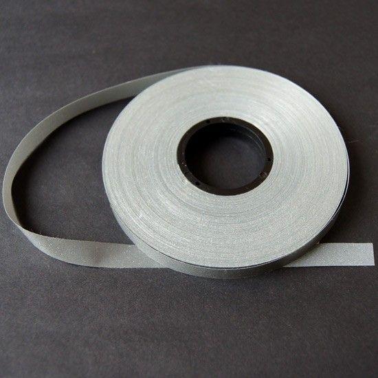 1 m Reflektorband Leuchtband Silber 10 mm breit