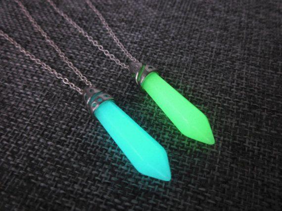 Atlantis necklacekida necklaceglow in the dark crystal by cloudbb