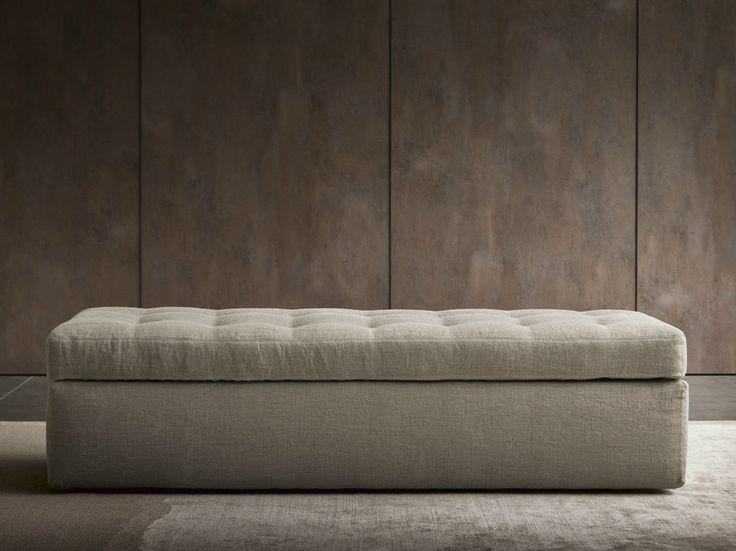 Sitzbank mit Aufbewahrung Gepolsterte Sitzbank Kollektion Iko by Flou   Design Rodolfo Dordoni