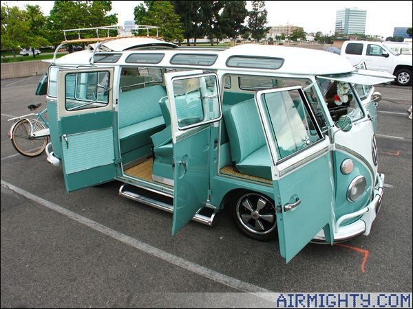Unbelievably righteous VW Safari Window Van.