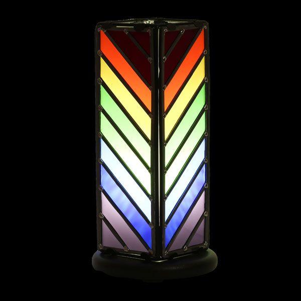 Lampe Arc-en-ciel en vitrail