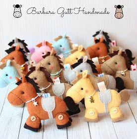 Barbara Handmade...: Filcowe koniki / Felt horses