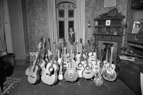 George & his guitars at Friar Park | HARRISON | Pinterest ...