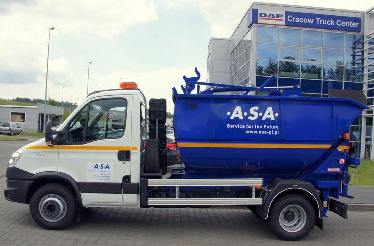 Mikro śmieciarka satelitarna KVC 7m3 na podwoziu IVECO DAILY 7 ton dla grupy ASA