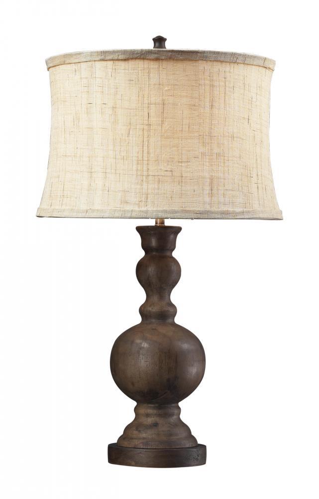 Design Lighting in Surrey, British Columbia, Canada, Dimond D2240, One Light Wood Table Lamp, Arden, Dark Oak - Wood