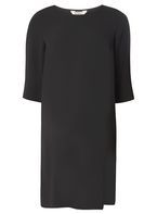 Womens **Maternity Black Side Split Tunic- Black