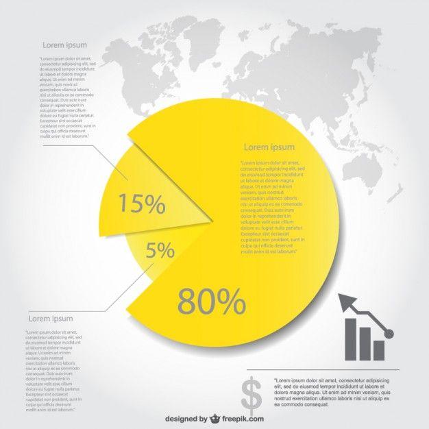 円グラフインフォグラフィック·デザイン 無料ベクター