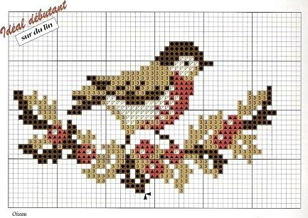 #crossstitch chart #bird #fall