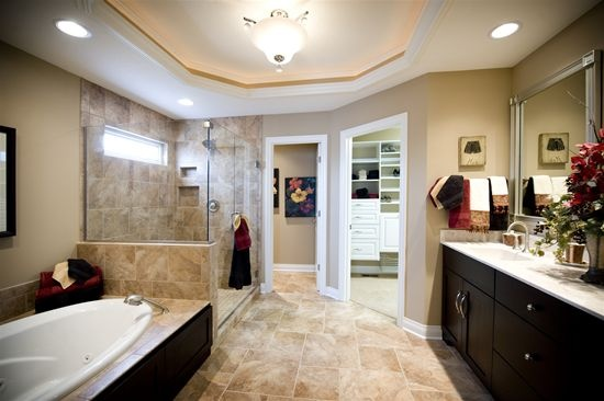 bathroom closet ideas 9 ft ceilings - Lancia Homes Master Bathroom in the St James Attractive