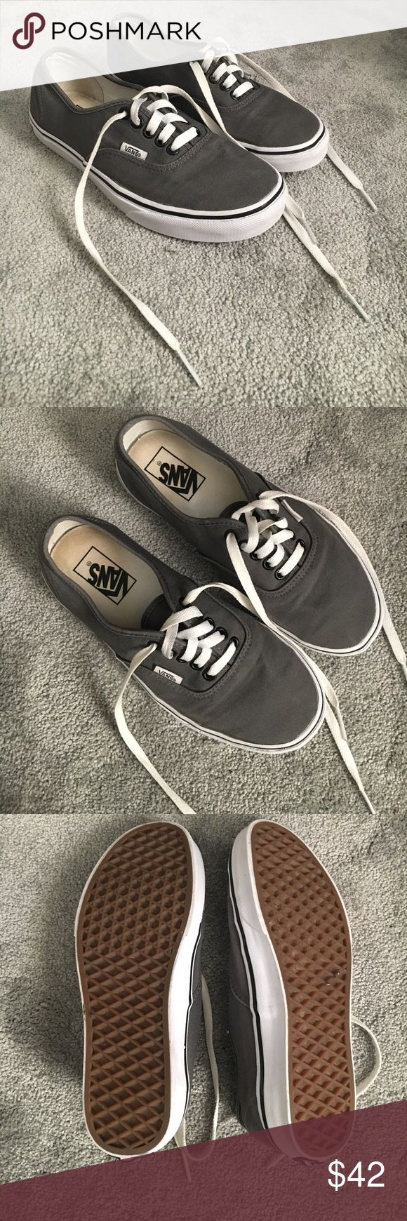 VANS canvas shoes Only worn a couple of times. Spray tan stain inside but not visible when wearing. Have washed them & they do not stink. They look brand new on the outside. Excellent condition!! Men's size 6.5. Women's size 8. Vans Shoes Sneakers