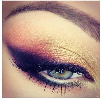 You can recreate this gorgeous cat-eye look with Grape, Plum Pizazz & Gold Eyeshadows @ gracemyfaceminera...