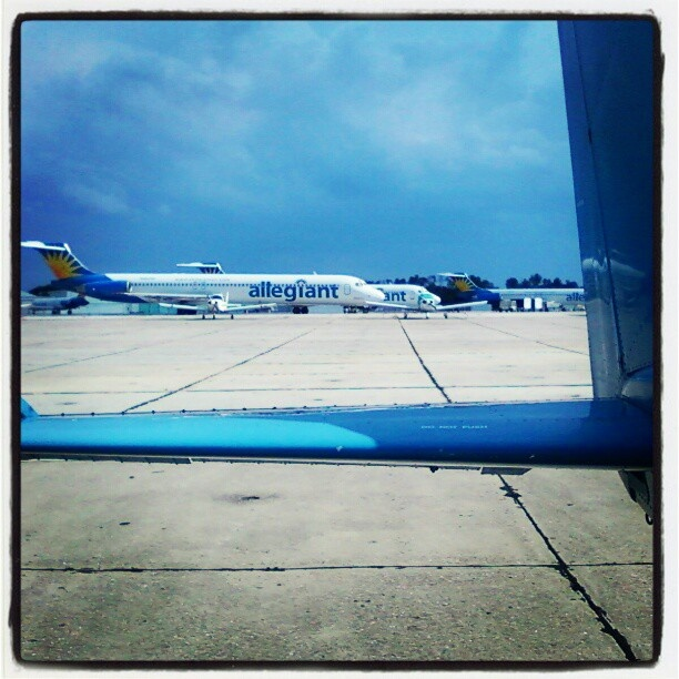 Allegiant Air flight out of Orlando-Sanford Airport in Seminole County