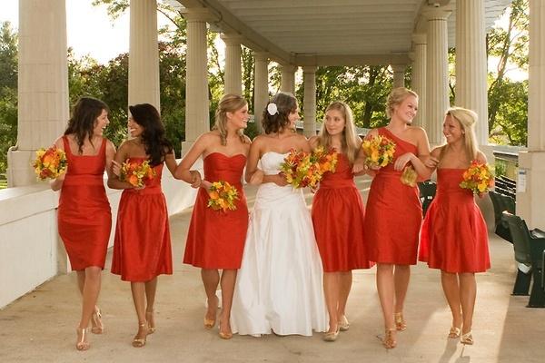 Non Traditional Wedding Dresses Los Angeles: Enjoyed The Pic ..Orange Bridesmaids Dresses Tangerine