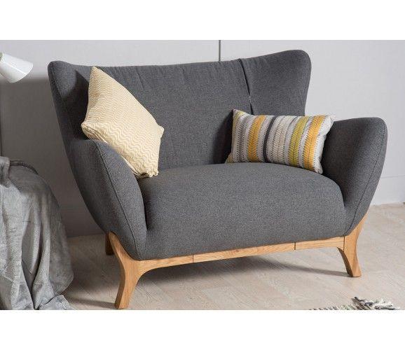 Willow Modern Armchair - Dark Grey