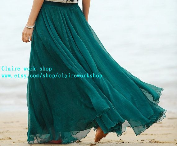 Hi, welcome to my shop!    Claire work shop  www.etsy.com/shop/claireworkshop    This is a high quality chiffon skirt!    The Fabric Soft Comfort