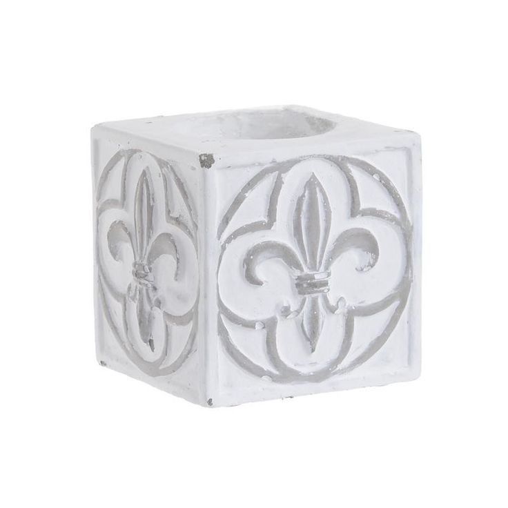 Cement Candle Holder - inart