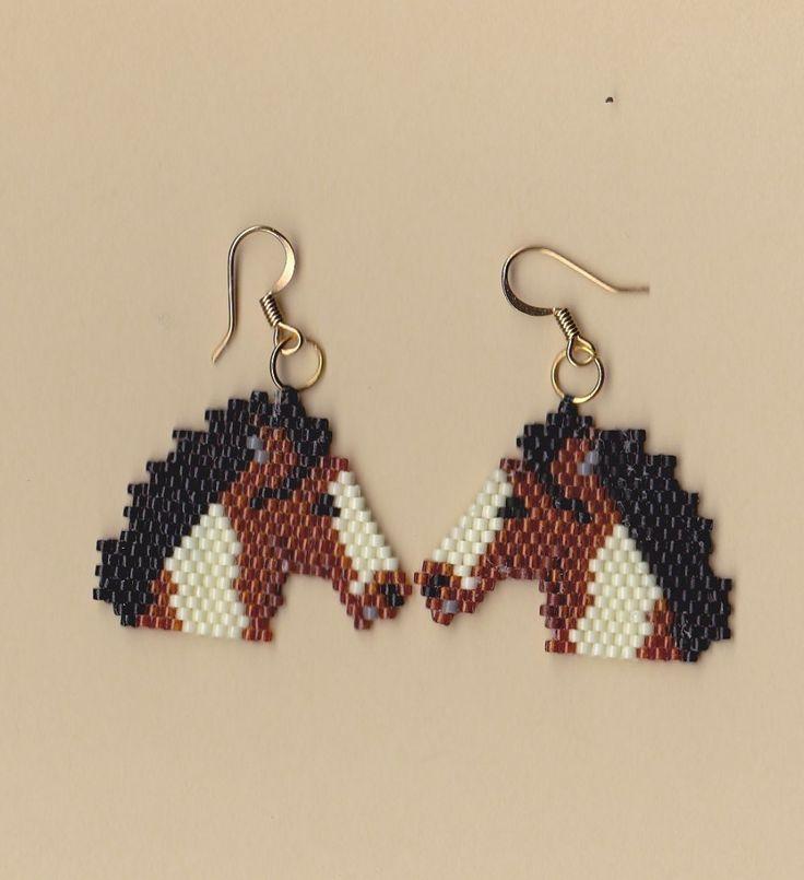 Beaded Paint Horse Earrings