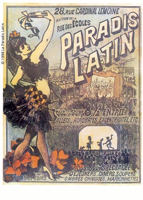 La toute première affiche historique du Paradis Latin! #cabaret #paris #paradislatin #print