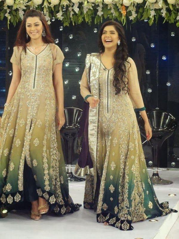 Stylish Dresses 2014 for Girls at Pakistani Fashion Week by Deepak Perwani