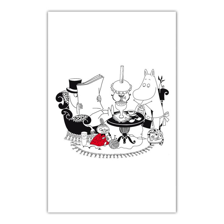 Moominpappa reading kitchen towel - The Official Moomin Shop