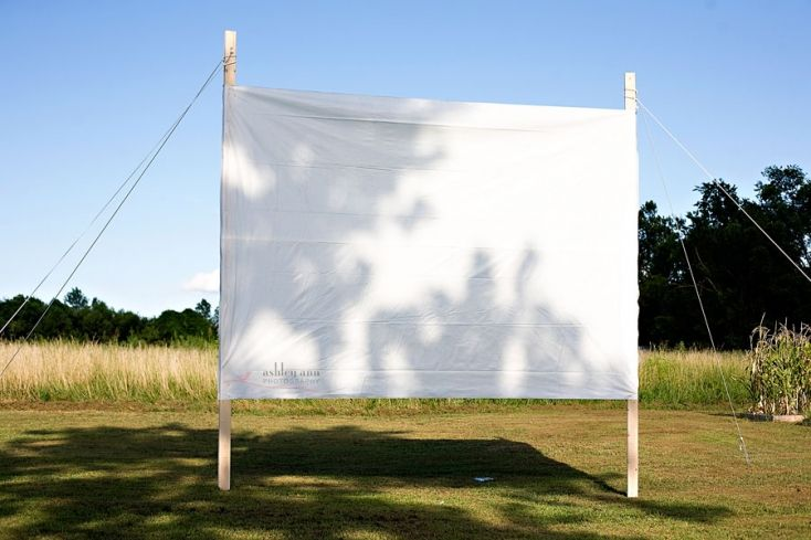 DIY projector screen. For outside movies in the summertime  #ExcitedForSummer
