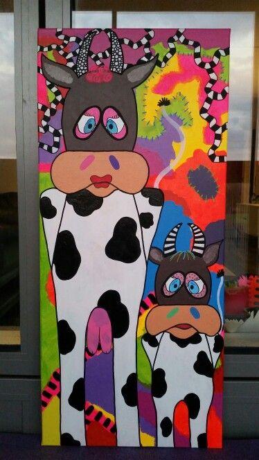 40 x 90 cm - cow