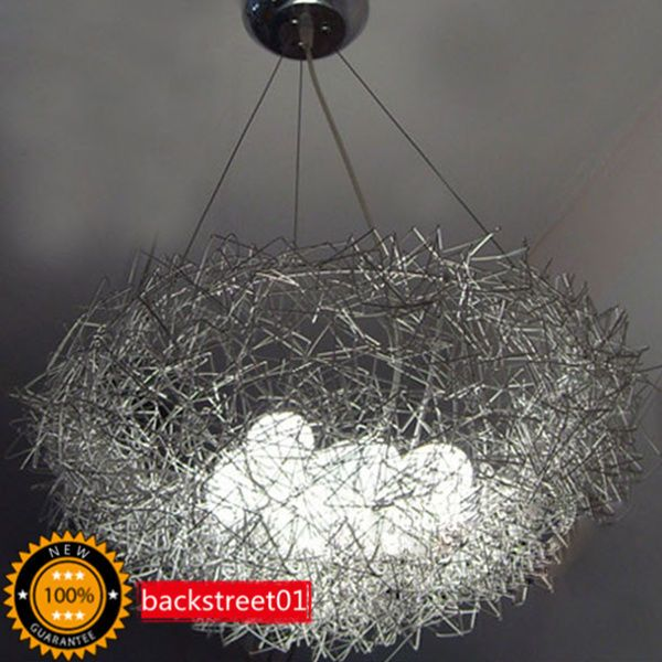 Aluminum Wire Bird S Nest Chandelier