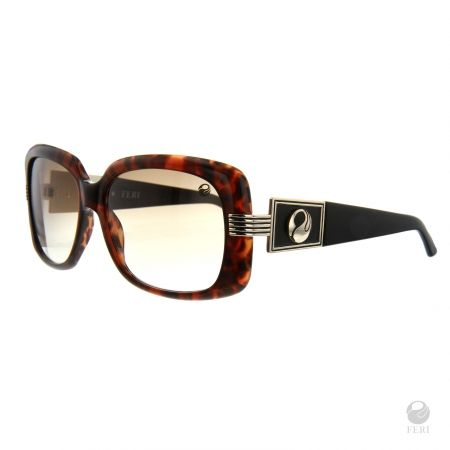 FERI - Florence Brown - Shields - Tortiseshell and black coloured frame - Acetate and metal construction with gold tone embellishment - Unique stone encrusted lens - Lenses are UV 400 and provide protection against harmful UV rays - Acetate is a hypo allergenic plastic - Acetate is used for its shine, color depth and durability  Invest with confidence in FERI Designer Lines.