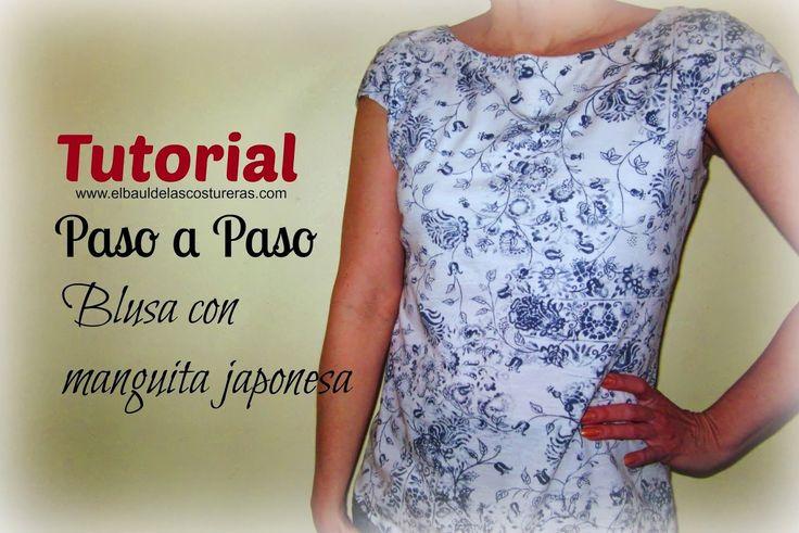 Trazado molde patrón de costura blusa manga corrida japonesa