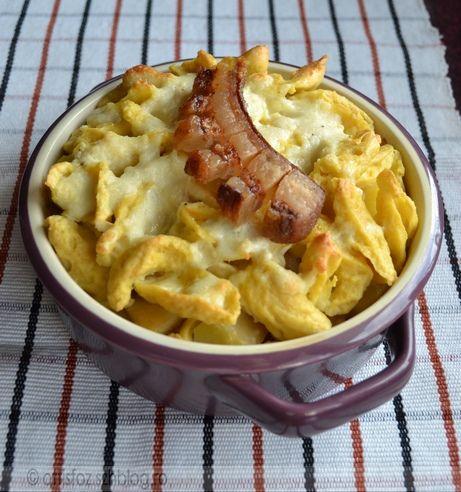 Krumplis-túrós rakott galuska