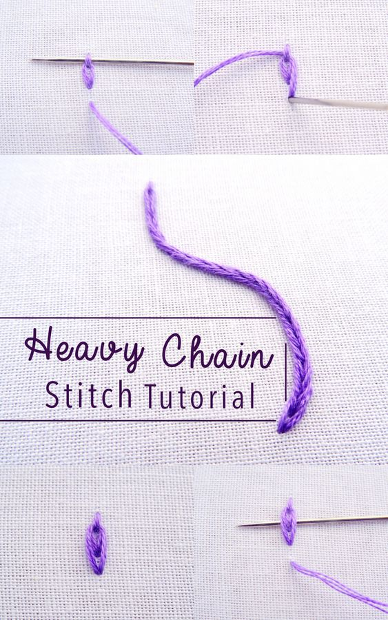 Heavy Chain Stitch Embroidery Tutorial
