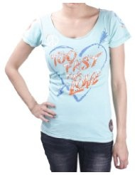 AFFLICTION Too Fast Peace Love Hippie Burnout Scoop Neck Womens T-Shirt