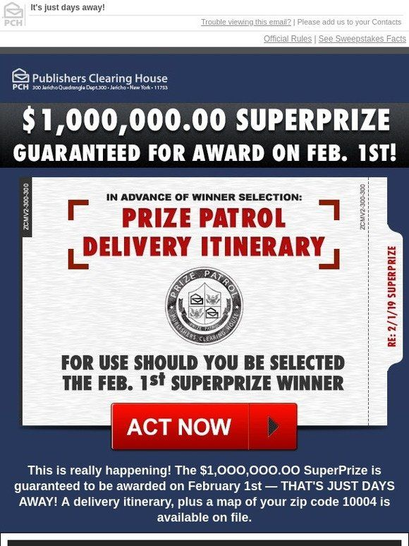Milled Has Emails From Publishers Clearing House Including New Arrivals Sales Discounts And Publisher Clearing House Lotto Winning Numbers Pch Sweepstakes