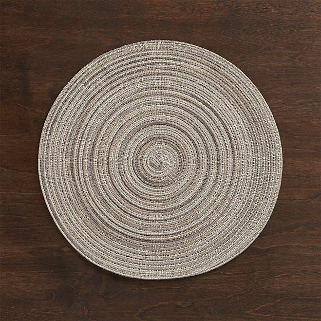 Stria Neutral Placemat | Crate and Barrel $3