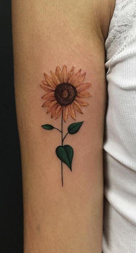 Minimalist Sunflower Tattoo By Missparismarie Sunflower Tattoos Tattoos Small Tattoos
