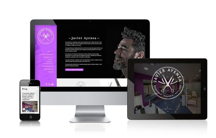 Web y redes sociales para Peluquería Javier Ayensa // Website and Social Media for Peluquería Javier Ayensa