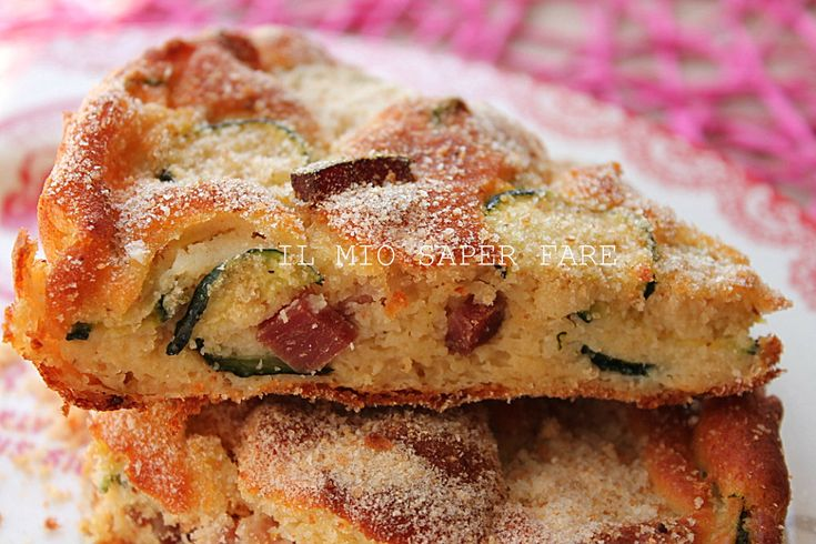 Bacon and ricotta cake with Zucchini - Torta di ricotta e speck con zucchine blog il mio saper fare
