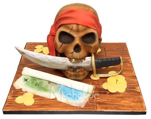 Michelle Cake Artist : 369 mejores imagenes sobre Pirate Cakes en Pinterest ...