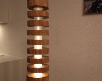 Design floor lamp in solid wood and acrylic by TheShiningWood