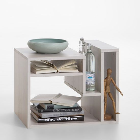 Fritz Side Table In Larch With Storage