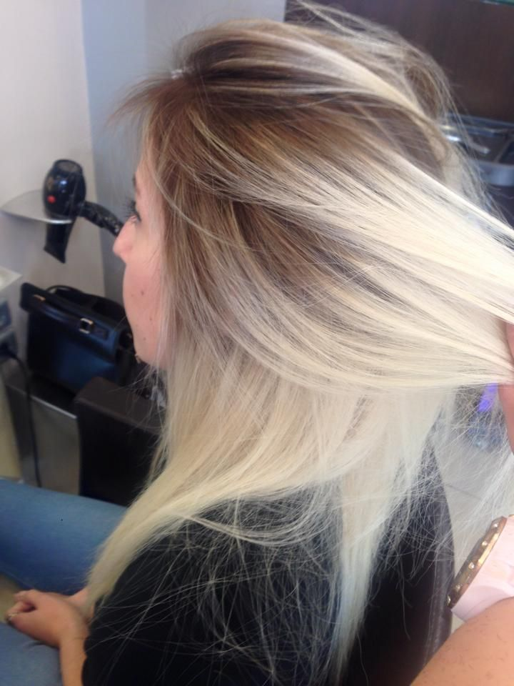 Dark roots vs blonde hair #darkroots #blondor #kommotiriolc