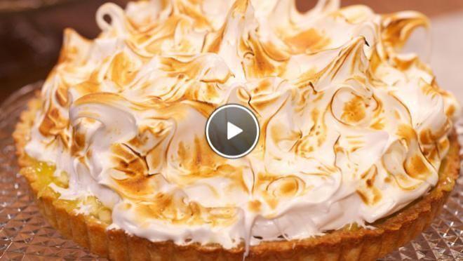 Appel-limoentaart met meringue - recept | 24Kitchen